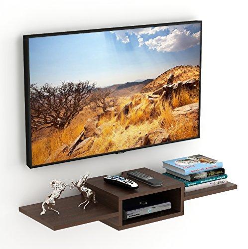 Bluewud Aero TV Entertainment Unit/Wall Set Top Box Stand Shelf (Standard, Wenge)
