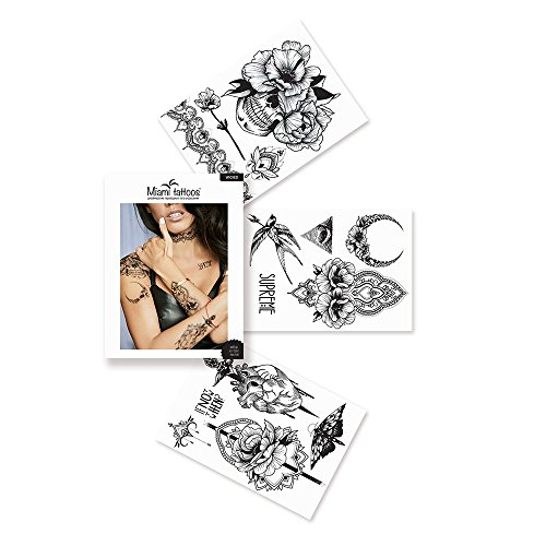 Miami tattoos wicked / ft0076 / tatuaggi da donna / tatuaggi temporanei da donna / tatuaggi temporanei braccia da uomo / tatuaggi temporanei tribali / tatuaggi temporanei celtici / tatuaggi temporanei maori / 3 fogli / 20 * 15 cm
