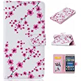Funda para Huawei P8Lite, Cozy Hut® PU cuero, tipo libro, billetera, magnética, decorada