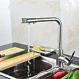 YAWEDA Einhand-3-Wege-Küchenarmatur Doppelfunktion Wasserfilter Küchenarmatur Dreiweg-Hahn-Wasser-Filter-Küchenarmatur