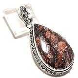 jewels paradise Colgante de Jaspe marrón de Estilo Vintage, Hecho a Mano,...