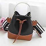 YTTY Kontrast Farbe Dzi Tasche Trend Handtasche Schulter Diagonal Paket Mode Handtaschen, Schwarzer Kampf Braun