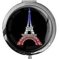 """metALUm - Extragroße Pillendose in runder Form""""Eiffelturm Tricolore"""" preisvergleich bei billige-tabletten.eu"""