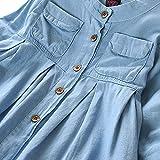 Baby Junge Kleidung Outfit, Honestyi Kleinkind Kind Baby Mädchen Denim Geraffte Langhülse T Shirt Oberseiten Blusen Kleidung (Blau,90)