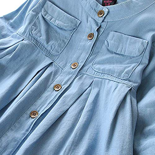 Baby Junge Kleidung Outfit, Honestyi Kleinkind Kind Baby Mädchen Denim Geraffte Langhülse T Shirt Oberseiten Blusen Kleidung ()