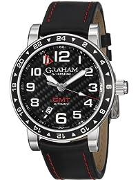 Graham 2TZAS-B02A-L86S 2TZAS.B02A - Reloj para hombres, correa de cuero