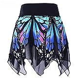 AMUSTER Damen Mädchen Rock Schmetterling Rock Mode Mädchen Sexy Hohe Taille Uniform Faltenrock Frauen Kurz Rock Tutu Tanzen Rock Mehrfarbige Unterröcke (S, Blau)