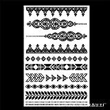 zgmtj Etiqueta engomada Impermeable del Tatuaje de la Manera de la Personalidad Verde del cordón YHB-022 148×210MM