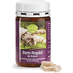 tierlieb Darm-Regulat für Katzen Probiotisches Diät-Ergänzungsfuttermittel für die Verdauung - Inhalt 120 Kapseln