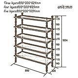 SJIAXJ Massivholz-Mehrschicht-Schuhregal, amerikanisches einfaches Lagerregal-Ausgangsschuhregal, passend für Wohnzimmer Schlafzimmer (Farbe : Weiß, größe : 103.4CM)