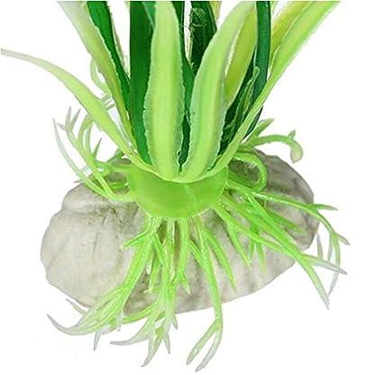 Alcyoneus Artificial Plastic Green Grass Fish Tank Ornament Water Plant Aquarium Decor 5
