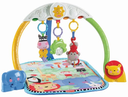 Mattel W9898 - Fisher-Price Discover n Grow Tracking Lights Musical Gym