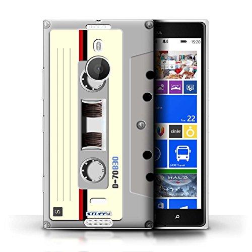 Kobalt® Imprimé Etui / Coque pour Nokia Lumia 1520 / Cassette Vidéo VHS conception / Série Retro Tech Compact Cassette Audio