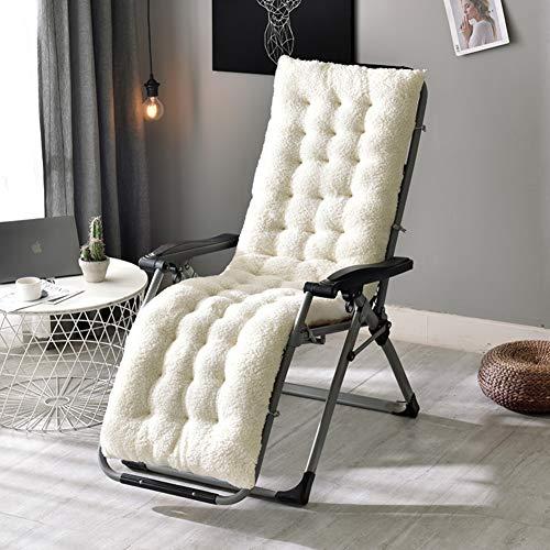 Reis-bett-möbel (ZHUAN Nicht-skid Backing Rocking Stuhl Kissen, Gartenstuhl-auflage Mit Krawatten Indoor Outdoor Chaise Liege Bank Kissen- Weißer Reis 160x50x12cm(63x20x5inch))