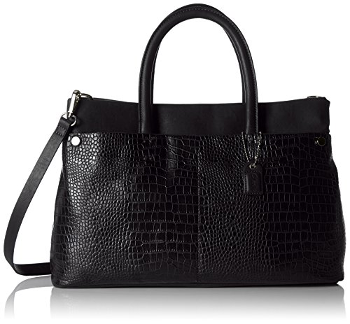Clarks Maddington Way - Borse a Tracolla Donna, Nero (Black Croc), 39x38.5x14.5 cm (B x H x T)