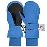 Andake Kinderhandschuhe, 3M Thinsulate Warme Winterhandschuhe Wasserdicht Winddicht Handschuhe für Skifahren, Spielen, Outdoor-Aktivitäten (Jungen und Mädchen, Blau-S)