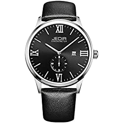YPS Men Roma Number Nail Shape Scale Quartz Movement Small Second Dial Calendar Fashion Casual Watch WTH5375