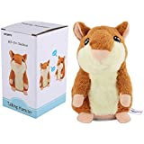 APUPPY Mimicry Pet Talking Hamster Repeats What You Say Plush Animal Toy Electronic Hamster Mouse For Boy And Girl Gift