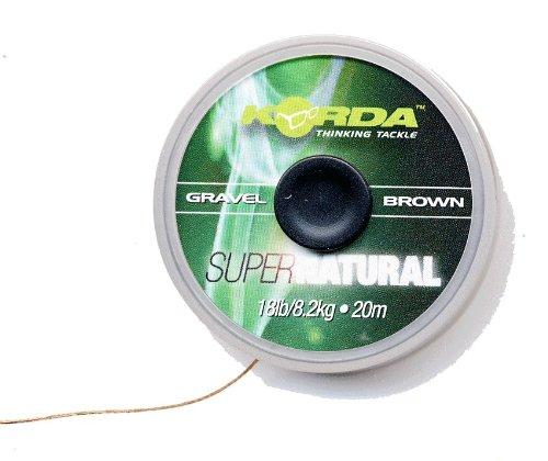 Korda Super Natural 25lbs 20m - Vorfachschnur zum Angeln auf Karpfen, Schnur für Karpfenvorfach, Vorfach zum Karpfenangeln, Farbe:Gravel (Kies)