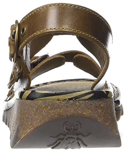 Fly London Tear806fly, Sandales Bride Arrière Femme Marron (Camel)