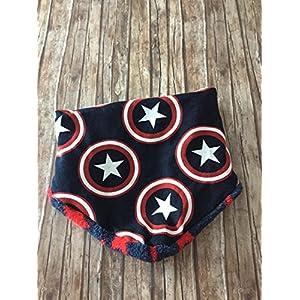 warmes Halstuch Dreieckstuch Schal Latz Fleece Stern Stars Superhelden