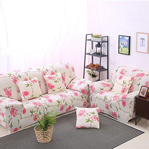 Homeofying fiore rosa elasticizzato, mobili di divano slipcover per 1234posti, 4 sedili
