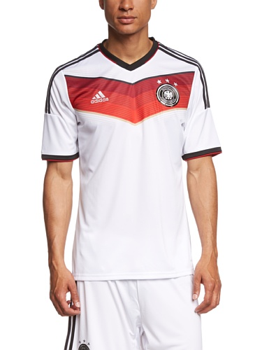 adidas Herren Trainingsshirt DFB Trikot Home WM White/Black/Victory Red/Matte Silver, XL