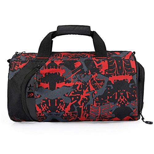 8b481056cbdfe WOMJIA 600D Nylon langlebig Reisetsache Sporttasche Weekender Tasche  Handgepäck aus stilvoll 35 Liter Rot