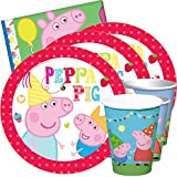 JuniorToys Peppa Pig Partyset - Peppa Wutz Kindergeburtstag (48-teilig)