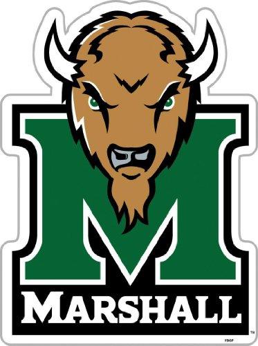 Fremont Die NCAA Marshall mitreißenden Herde 30,5cm Vinyl Magnet -