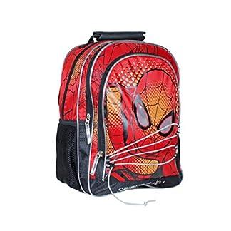 Spiderman Spider Attack Mochila Juvenil, 36 cm, Color Rojo