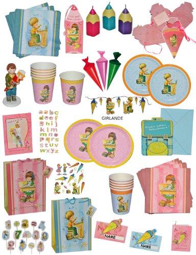 Unbekannt 20 Stk. Servietten - Mädchen Schulanfang Party Schuleinführung Kinderparty Schule rosa Schultüte Zuckertüte