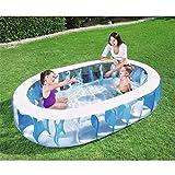 LLFFDC Kinder Baby Erwachsene Aufblasbares Schwimmbad Planschbecken Sommer Wasser Spaß Spiel...