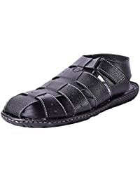 Andrew Scott Men's Black Sandal