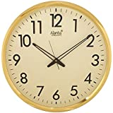 Oreva Ajanta Silent Movement (32 Cm X 32 Cm) Plastic Round Shape Wall Clock For Home And Office (Ivory)
