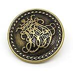 5 Bronzefarbene Knöpfe mit Wappen DIY (25mm)