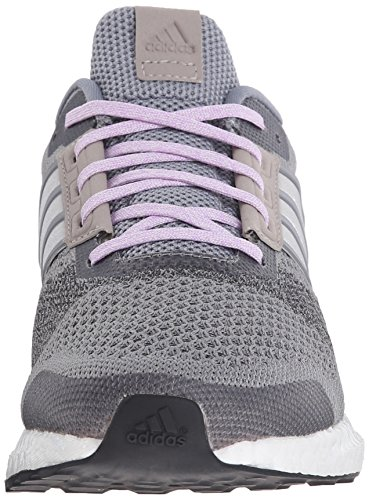 Adidas Performance Ultra Boost rue chaussure de course, gris / blanc / lueur pourpre, 5 M Us Grey/White/Glow Purple