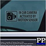 5x schwarz klein 87x 30mm in Auto Kamera durch Bewegungsmelder aktiviert stickers-vehicle Sicherheit Erkennung Sticker signs-cctv für Auto, Van, LKW, Taxi, Mini, CAB, Bus, Coach