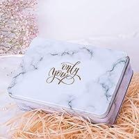 Preisvergleich für Einzigartiges Design Große quadratische Hochzeit Süßigkeiten Geschenk Box Weißblech Keksdose (weiß)