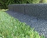 FlexiBorder Garden Edging Flexible Border Fence Neat Landscaping - 1 metre length - various colours (Grey)