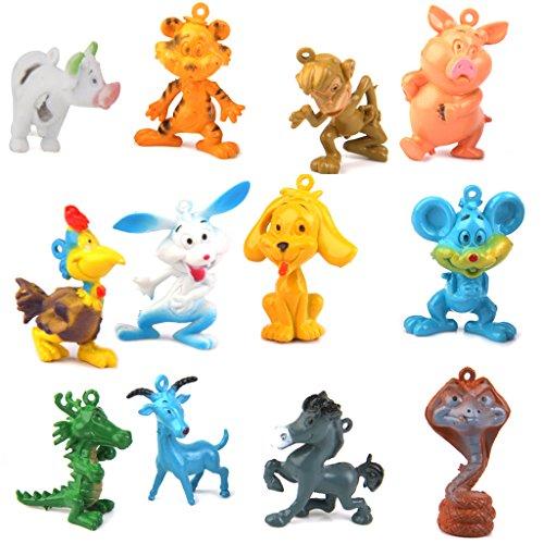 Juguete Juguete Figuras Modelos Doce Animales Zodiacos Plstico para