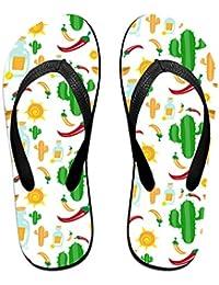 Cooby Roman Fashion Sandalias de Playa con diseño de Vector Mexicano, Unisex, livianas,