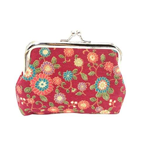 Longra Quattro pollici 4 pollici oro che timbra il raccoglitore della borsa del fiore di sole Rosso
