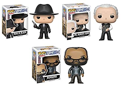 Funko POP! Westworld: Man In Black + Dr. Robert Ford + Bernard - TV Vinyl Figure Set NEW