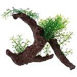 TOOGOO Green Dark Brown Fish Tank Aquarium Driftwood Plastic Tree 5.7 inch 6