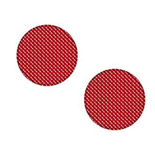 AG Design A-CZ-081 Aufkleber Reflektor rund, 3D, Durchmesser 5 cm, 2er-Set - rot