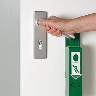 GFS 990000 Einhand-Türwächter Basic, gemäß EN 179 und DIN EN 1125, GfS Markenware aus Stahl