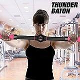 Apolyne Thunder Baton Barre d'exercices realzasenos, Mixte Adulte, Noir, Unique