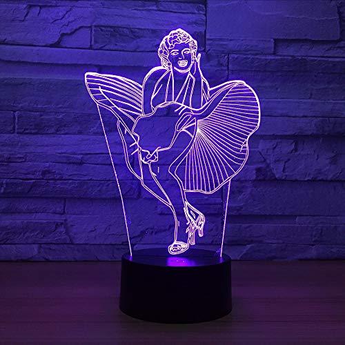 Dwthh Singer Modello 3D Usb Night Light Remote Touch Lampada Da Tavolo Led Atmosfera Mood Lampada Regalo Di Natale