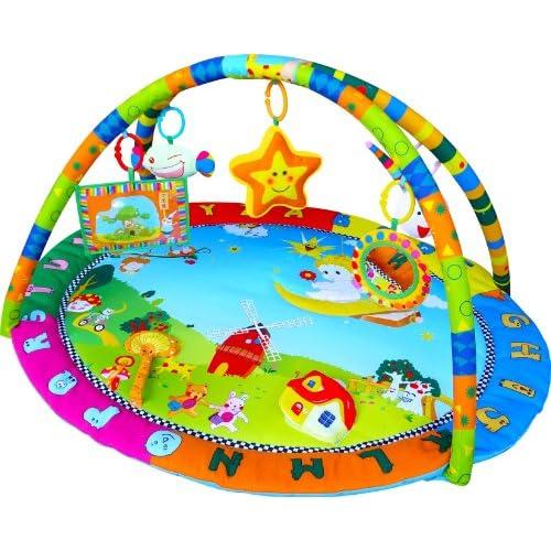 Gimnasio con alfombra musical de juegos y actividades para bebé - Diseño ángel feliz 11